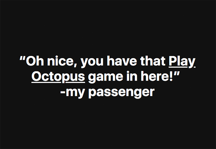 Play Octopus Rideshare Entertainment Review - Play Octopus Games