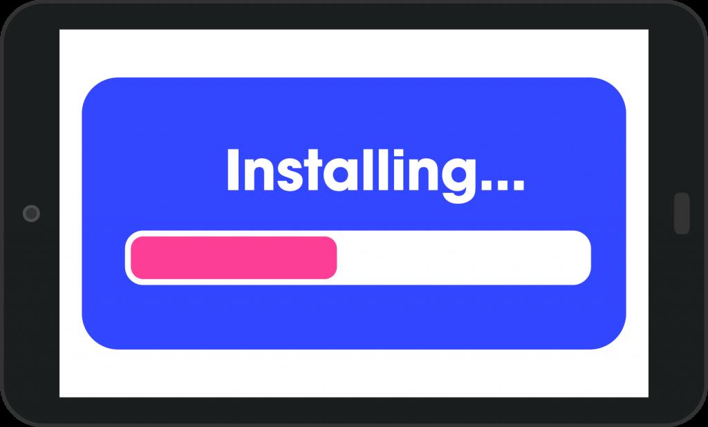 Tablet installing software