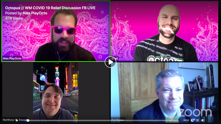 Screenshot of Facebook LiveStream