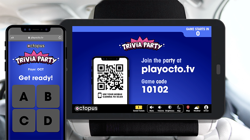 Touchless trivia game for Octopus
